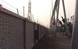 啟東懷遠發電站電子圍欄安裝