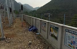 海門沙洲變電站電子圍欄安裝